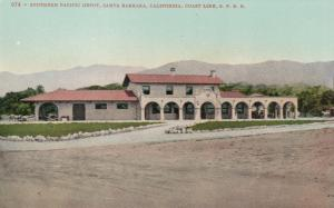SANTA BARBARA , California , 00-10s ; Southern Pacific Depot, Railroad Station