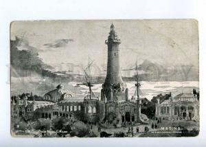 227159 ITALY MILANO 1906 Exhibition LIGHTHOUSE old postcard
