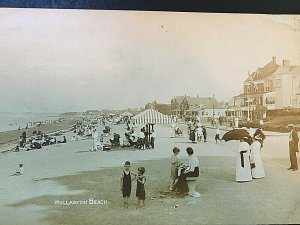 Postcard RPPC Antique View of Wollaston Beach in Quincy, MA.   T7