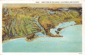Aero View of San Diego, California and Vicinity