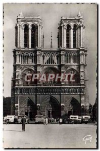 CPM Paris Facade of Notre Dame Cathedral