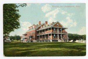 Postcard Hospital Fort Leavenworth Kans. Kansas Standard View Card