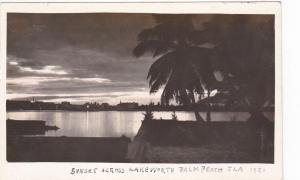 RP: Sunset across Lake Worth , PALM BEACH , Florida , 1920
