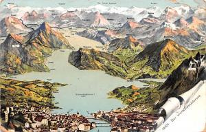 Switzerland Postcard Der Vierwaldstattersee