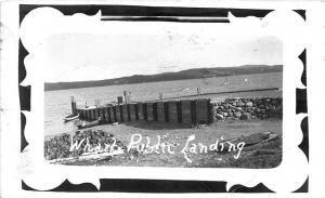 Boston MA Harbor Wharf Public Landing RPPC Postcard