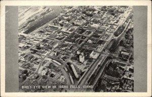 IDAHO FALLS ID Bird's Eye View Old Postcard