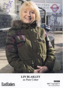Lin Blakley as Pam Coker BBC Eastenders Hand Signed Cast Card Photo