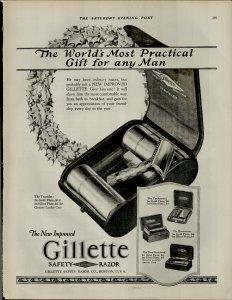 1924 Gillette Razors For Men Vintage Print Ad 3943