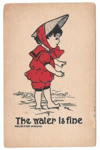 Dorothy Hillson Artist Signed Postcard The Water is Fine