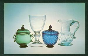 Corning Glass Museum American New York Sugar Bowl Goblet Pitcher Postcard