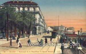 Alger Algeria, Africa, Boulevard de la Republique et Square Bresson  Boulevar...