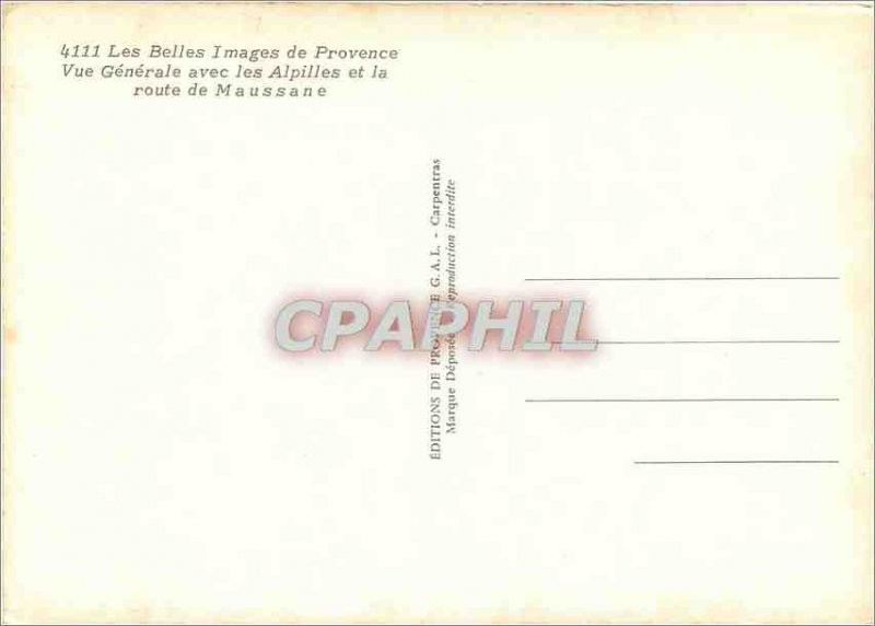Postcard Modern Belles Images of Provence with the Alpilles Vue Generale and ...
