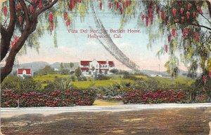 Hollywood California 1909 Postcard Vista Del Mar The Bartlett Home