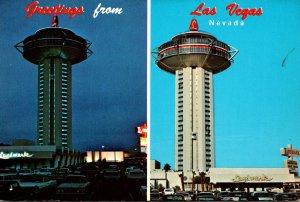 Nevada Las Vegas Greetings With Landmark Hotel Tower