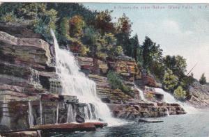Riverside View below Glens Falls NY, New York - pm 1908 - DB