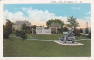 Memorial Park, Cannon, AMSTERDAM, New York, 1910-1920s