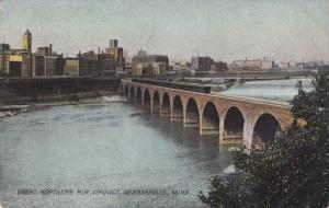 MINNEAPOLIS, Minnesota, 1900-1910s; Great Northern R.R. Viaduct