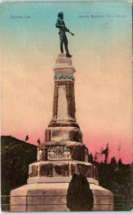 COLOMA, CA California     JAMES MARSHALL Monument   c1910s Handcolored  Postcard