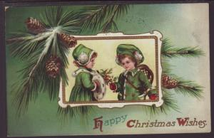Happy Christmas Wishes,Children Postcard