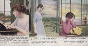 Every Little While Romantic Absense Songcard Set 3x Postcard s
