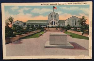 Postcard Unused Will Rogers Museum/Tomb Claremore OK LB