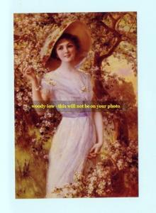 mm251 - young woman in hat summer scene - art - photograph 6x4