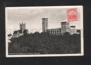071089 Cathedral & Parlament Building Bermuda Vintage RPPC