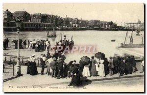 Old Postcard Dieppe Ferret returning the boat Promeande