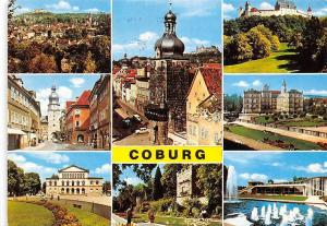 Coburg Schloss Castle Fountain Street Tower Gate Auto Cars