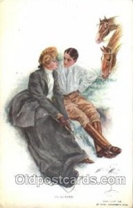 Artist Signed Harrison Fisher Postcard Postcards In Clover 1911