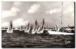 Postcard Modern Boat Sailboat Regattas Sea dating