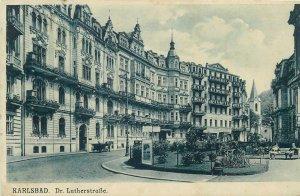 Postcard Czech Republic Karlovy Vary Karlsbad dr. Lutherstrasse