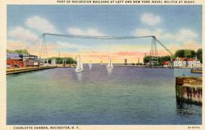 NY - Rochester. Charlotte Harbor. Port of Rochester Building, NY Naval Militia