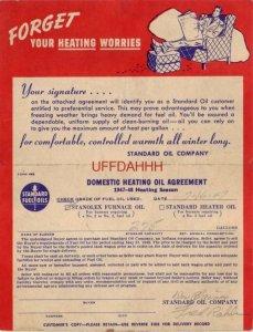 STANDARD FUEL OIL GALLONAGE RECORD 1947-48 Heating Season DES PLAINES, IL