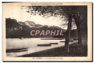 Postcard Old Annecy and La Tournette Lake