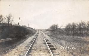 Rolfe Iowa~Train Tracks~Railroad~Note from Traveling Mom-Pick Cucumbers~'10 RPPC