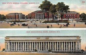 State Normal School & Education Bldg., Albany, N.Y., Early Postcard, unused