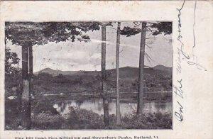 Pine Hill Pond Pico Killington And Shrewsbury Peaks Rutland Vermont 1906
