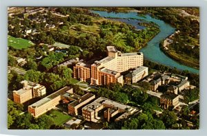 London ON-Ontario Canada, Aerial View Of Victoria Hospital, Chrome Postcard