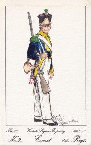 Vistula Legion Infantry Polish Cornet 1st Regiment Soldier Napoleonic War Pos...