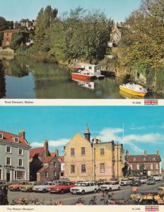 Malton Museum Boats Sailing 2x 1970s Postcard s