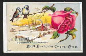 VICTORIAN TRADE CARD General Agent Merrill Manfg Co