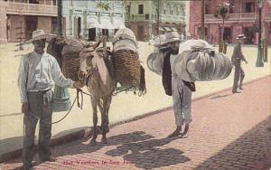 Puerto Rico Native Hat Vendors In San Juan 1918