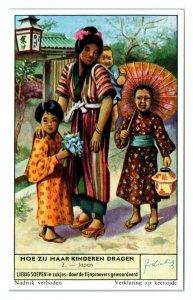 Japan, How Children are Carried Liebig Belgian Trade Card *VT28B