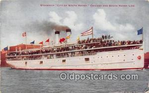 Steamship City of South Haven Chicago & South Haven Line Ship Postcard Post C...