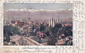 Birds Eye View of Salt Lake City, Utah, 1906 PU