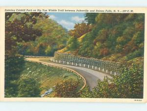 Linen ROAD OR STREET SCENE Palenville And Haines Falls New York NY hJ5996-12