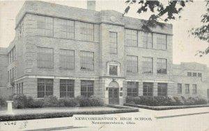 F49/ Newcomerstown Ohio Postcard c1940s High School Building 1