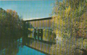 Covered Railroad Bridge At Hillsboro New Hampshire