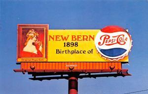 Advertising Post Card Pepsi Cola New Bern, NC USA Unused